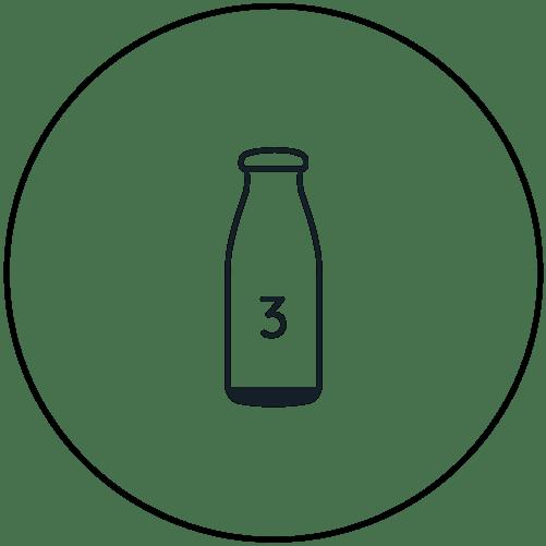 3. Flasche