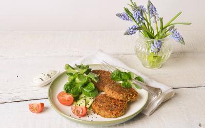 Quinoa-Bratlinge mit Proteinpulver