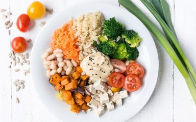 Vegane Buddha Bowl mit viel Protein